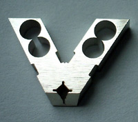 front yoke has square shape aperture